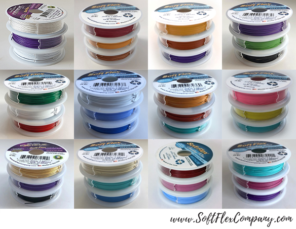 12 New Soft Flex Trios Beading Wire Packs