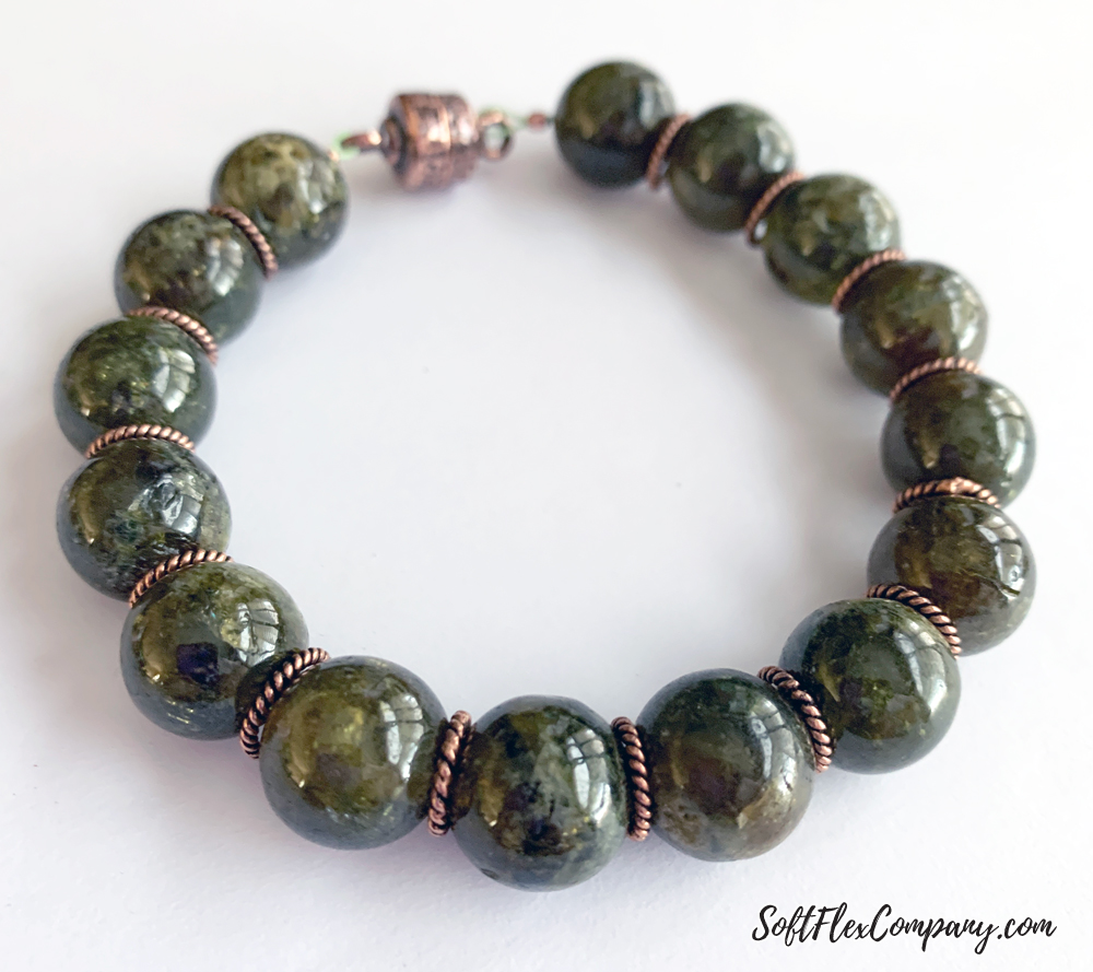 Easy Gemstone Bracelet Using Round Beads by Kristen Fagan