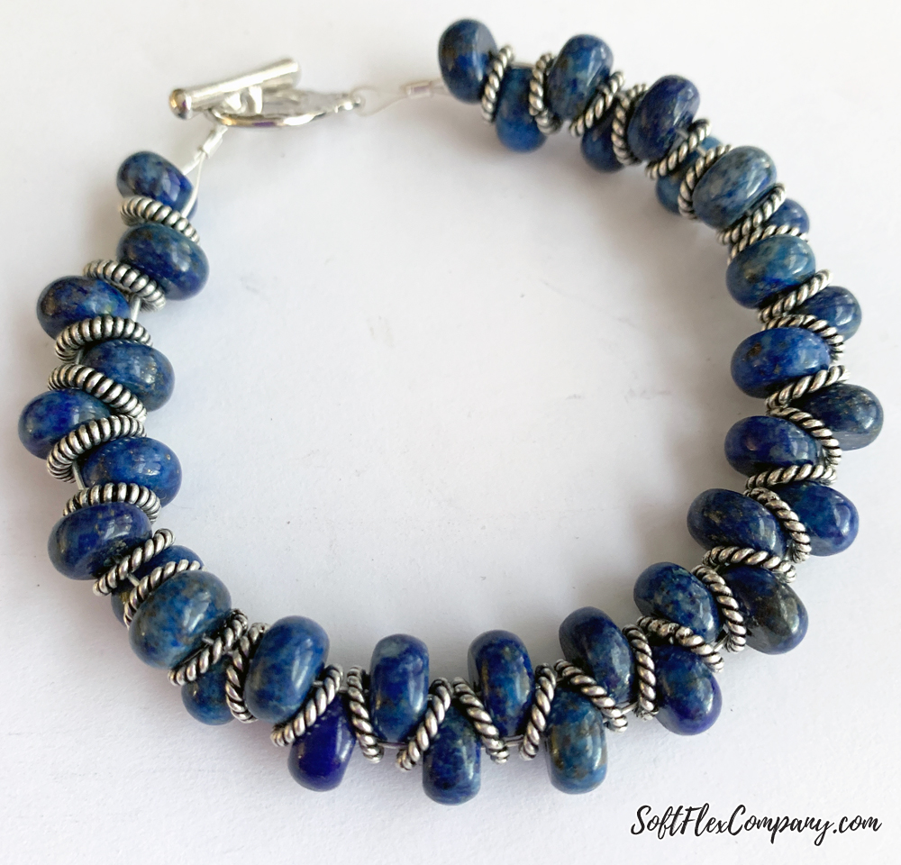 Easy Gemstone Bracelet Using Rondelle Beads by Kristen Fagan