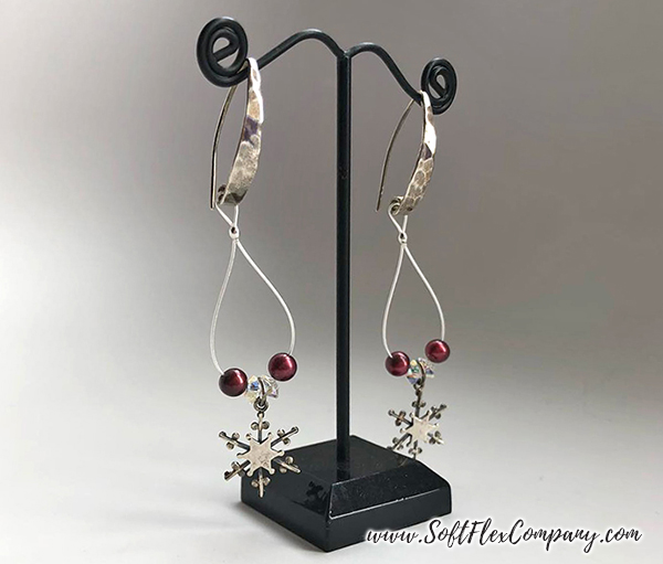 Snowflake Charm Earrings by Sara Oehler