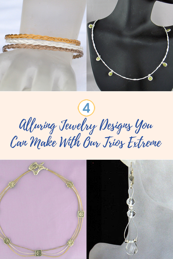 4 AlluringJewelry Designs You Can Make With Soft Flex Trios Extreme Beading Wire Packs