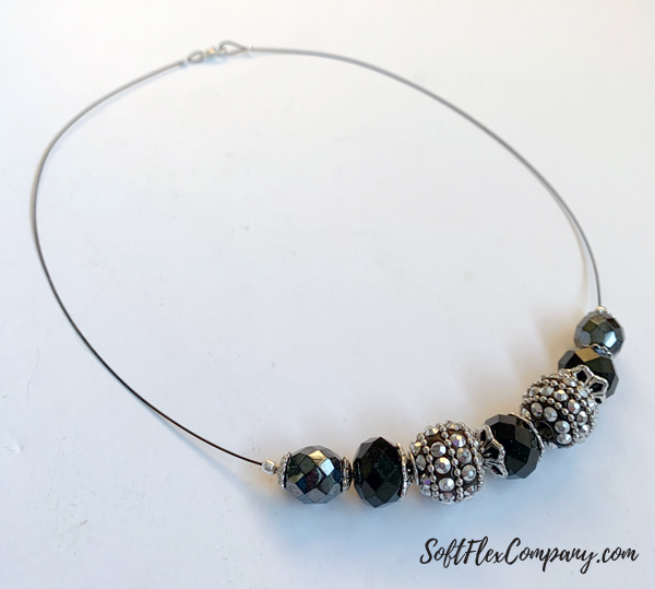 Classic Black and Silver Bead Necklace by Kristen Fagan