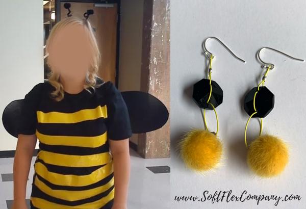 Bumble Bee Costume & Bumble Bee Earrings