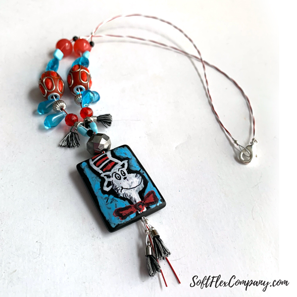 Cat In The Hat Beaded Necklace by Kristen Fagan