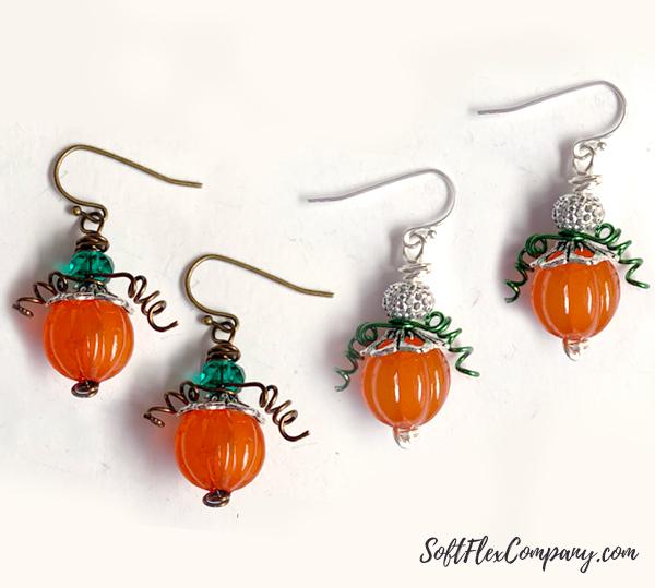 Fall Pumpkin Earrings by Kristen Fagan