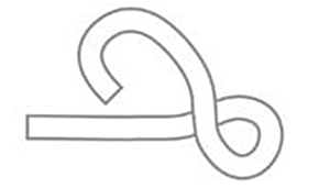 Figure Eight Knot - Step 2