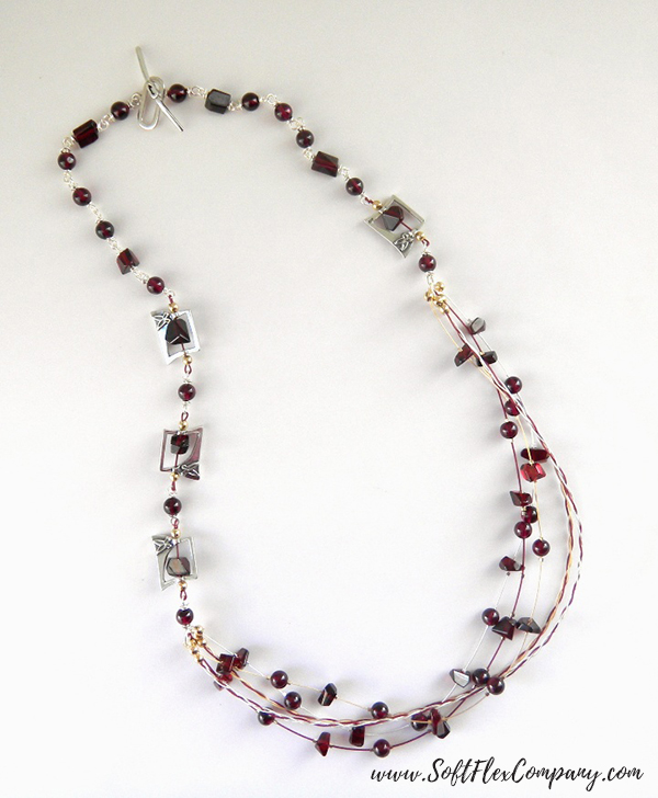 Garnet And Glitz Necklace 12