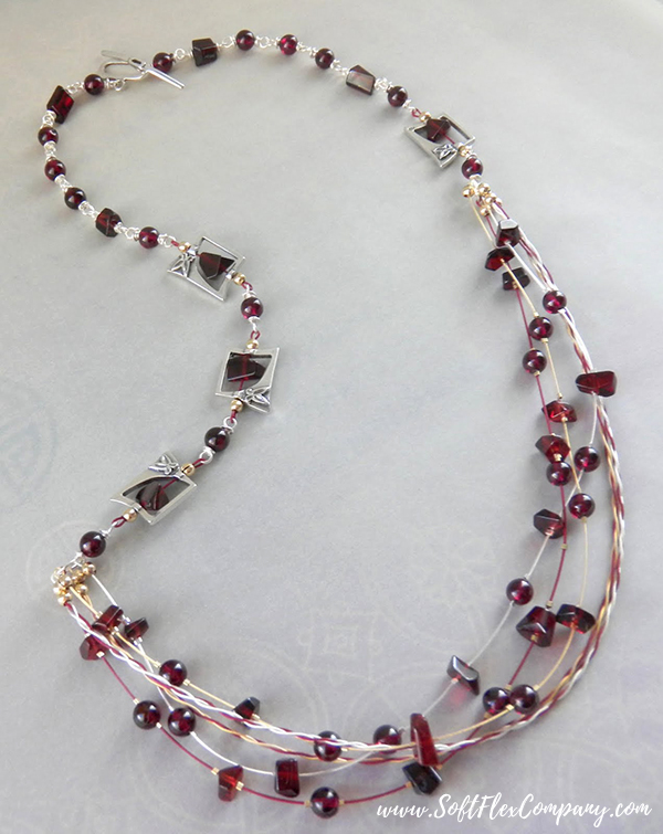 Garnet And Glitz Necklace