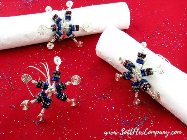 4th of July Sparklers Napkin Rings by Lynda Musante