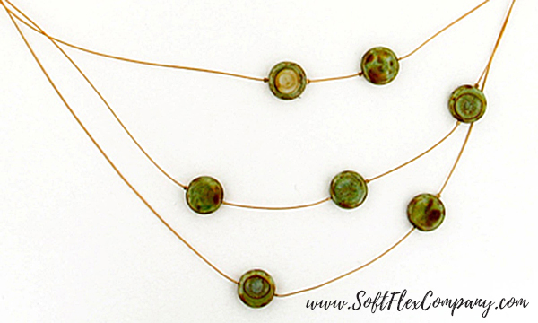 Khaki Safari Necklace Beads Detail