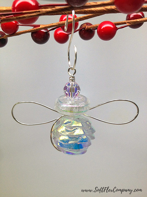 Beaded and Wire Snow Angel Ornament 1