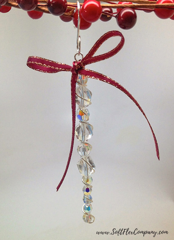 Crystal Beaded Icicle Ornament by Sara Oehler