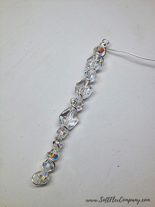 Crystal Beaded Icicle Ornament 4