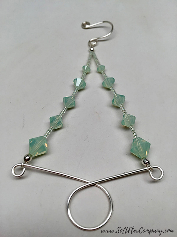 Beaded Holiday Wire Tree Ornament 1