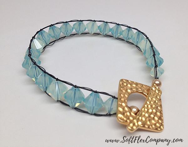 Woven Wire Macramé Bracelet by Sara Oehler