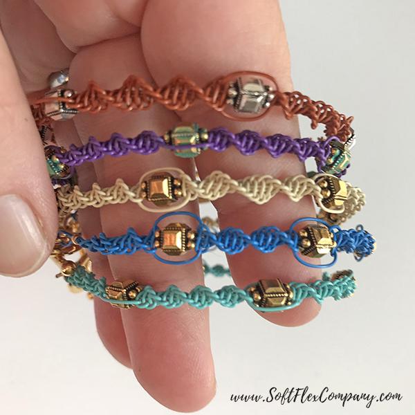 Soft Flex Wire Macrame Bracelets by Kristen Fagan