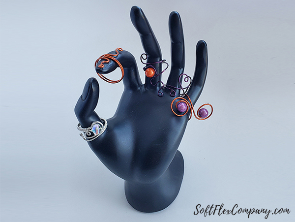 Craft Wire Adjustable Wire Rings by James Browning