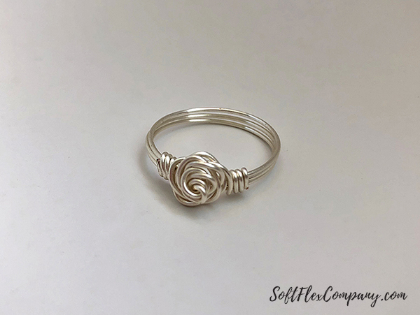 Craft Wire Rose Ring by James Browning
