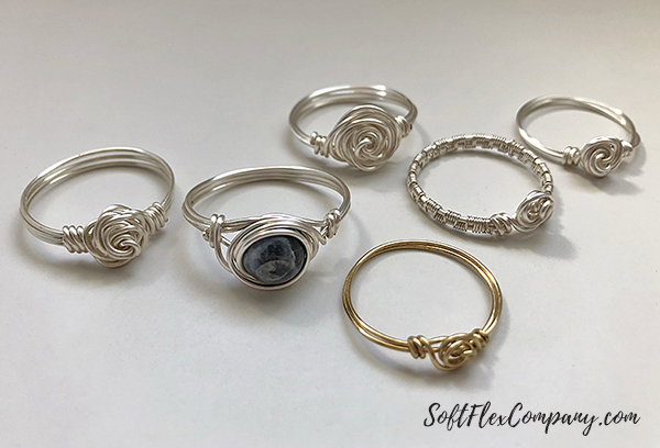 Craft Wire Rose Rings by James Browning