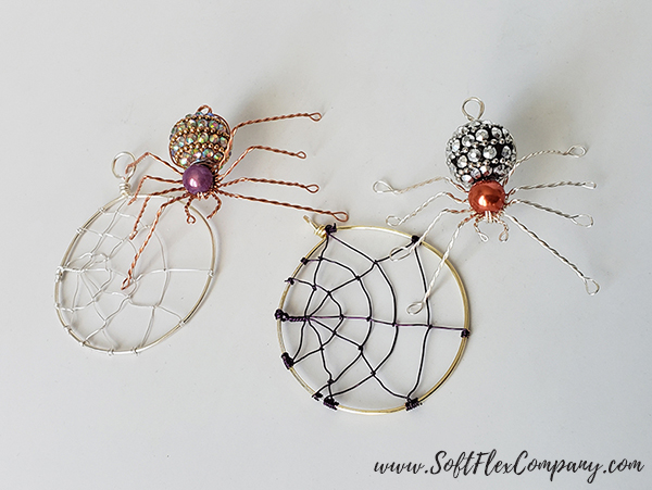Soft Flex Craft Wire Spiders and Webs by James Browning