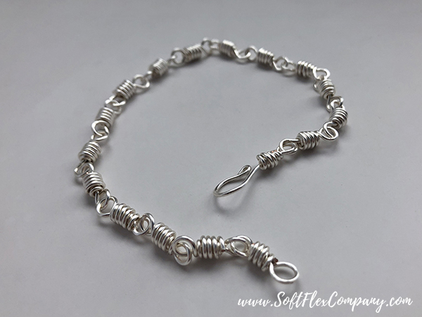 Soft Flex Craft Wire Double Looped Silver Bracelet by James Browning
