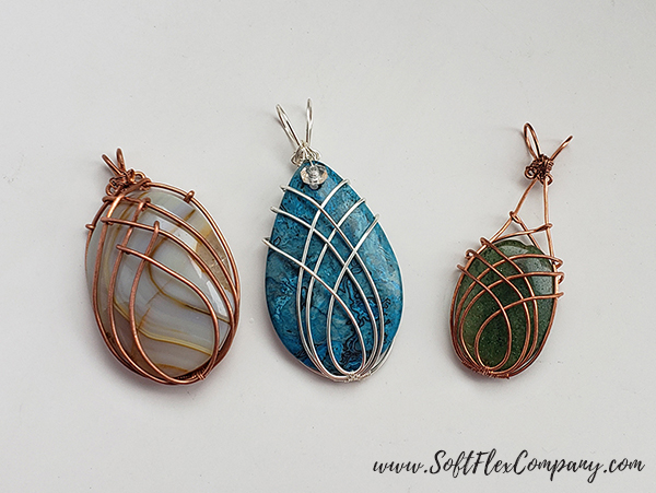 Soft Flex Craft Wire Simple Wire Wrap Weave Cabochon by James Browning