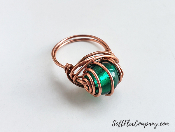 Craft Wire Captured Bead Ring by James Browning
