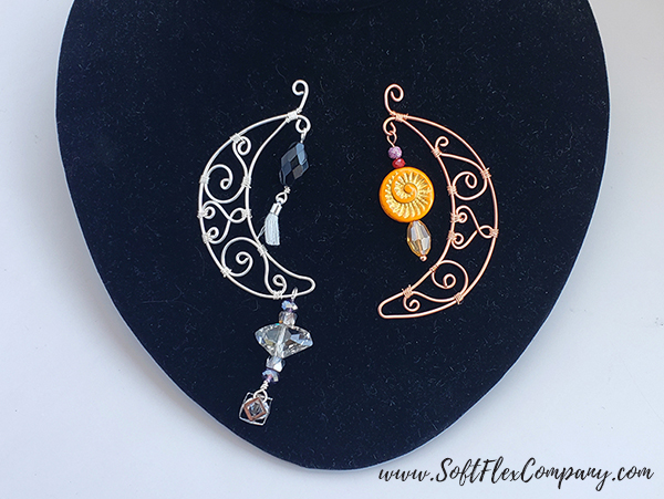 Soft Flex Craft Wire and WigJig Delphi Crescent Moon Pendant by James Browning