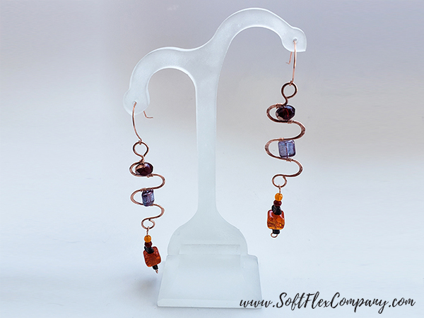 Soft Flex Craft Wire and WigJig Delphi Earrings by James Browning