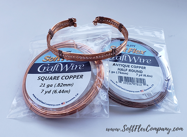 Square Soft Flex Craft Wire Copper Cuff by James Browning