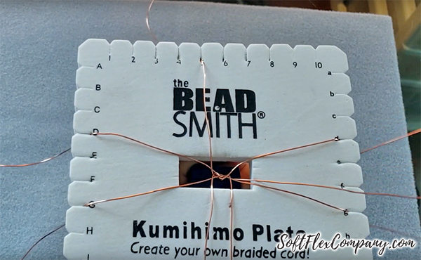 Kumihimo Braid Using Soft Flex Craft Wire On A Square Plate by James Browning