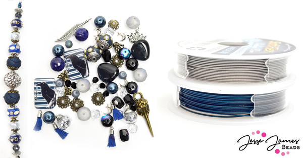 Jesse James Beads' School Of Magic Raven Beads and Soft Flex Beading Wire