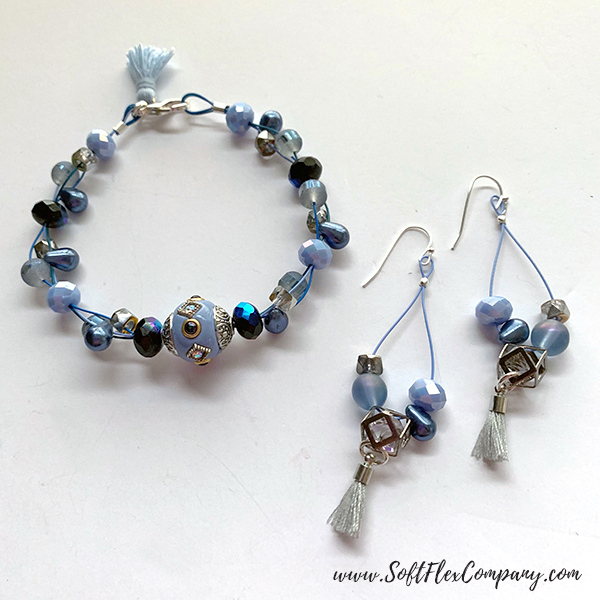 April Showers Bead Mix Earrings and Bracelet