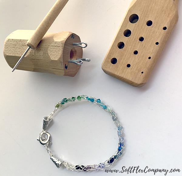 Soft Flex Craft Wire Knitted Bracelet by Kristen Fagan