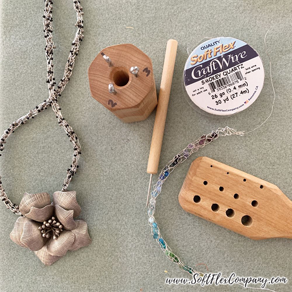 Soft Flex Craft Wire Knitted Bracelet and Necklace by Kristen Fagan