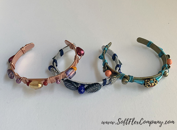 Soft Flex Craft Wire Wrapped Cuff Bracelets by Kristen Fagan