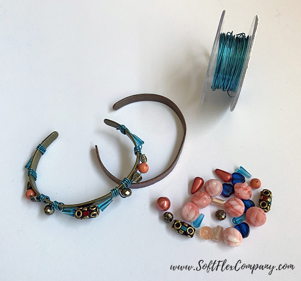 Soft Flex Craft Wire Wrapped Cuff Bracelet by Kristen Fagan