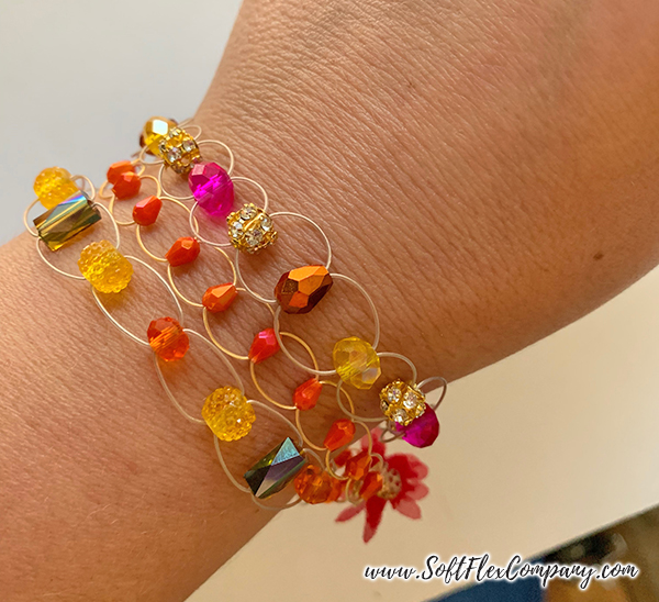 Soft Flex Extreme Trios Beaded Bangle Bracelets by Kristen Fagan