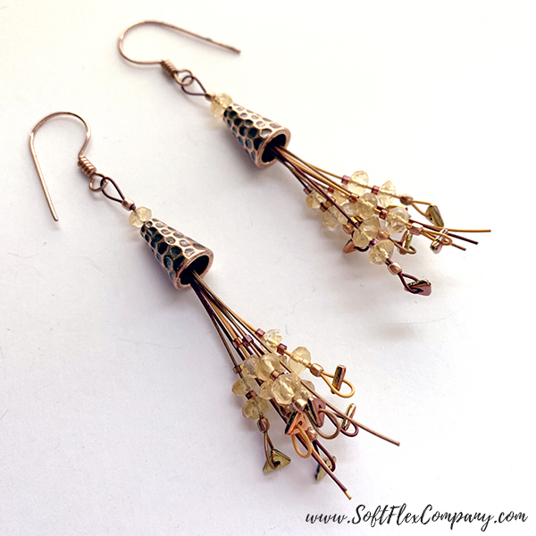 Harvest Moon Tassel Earrings by Kristen Fagan