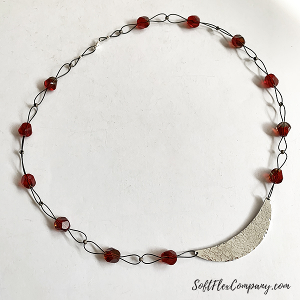 Metal Stamp And Beaded Necklace by Kristen Fagan