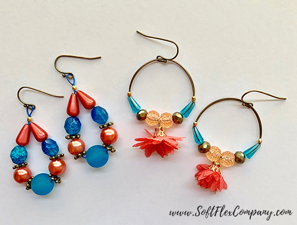 Shades Of Coral Earrings by Kristen Fagan