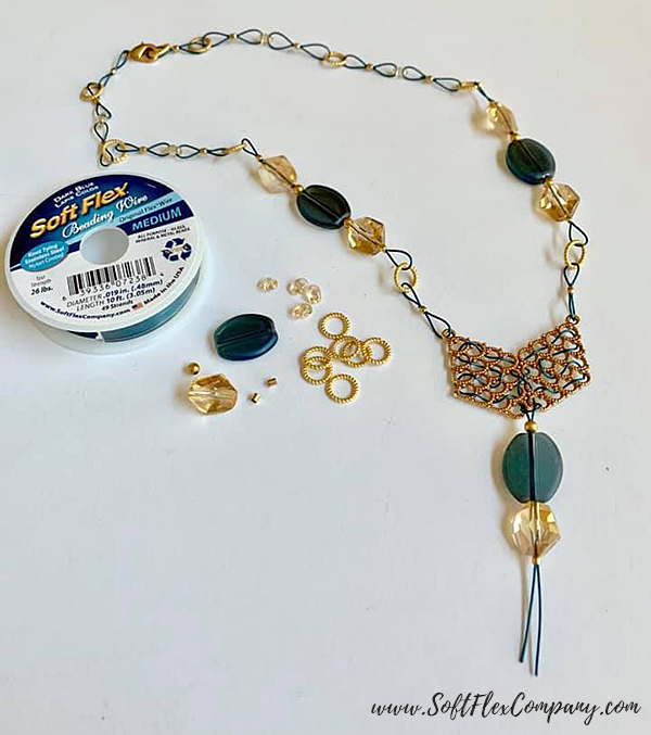 SoftFlex Wire Super Duo Bead Chain Necklace by Kristen Fagan