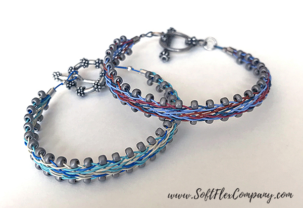 Square Kumihimo Flat Braided Bracelets by Kristen Fagan