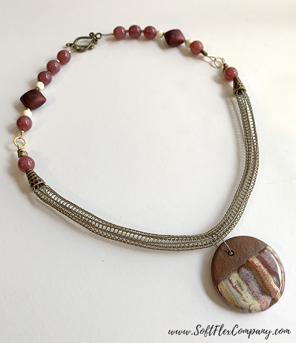Knitted Soft Flex Beading Wire Necklace by Kristen Fagan