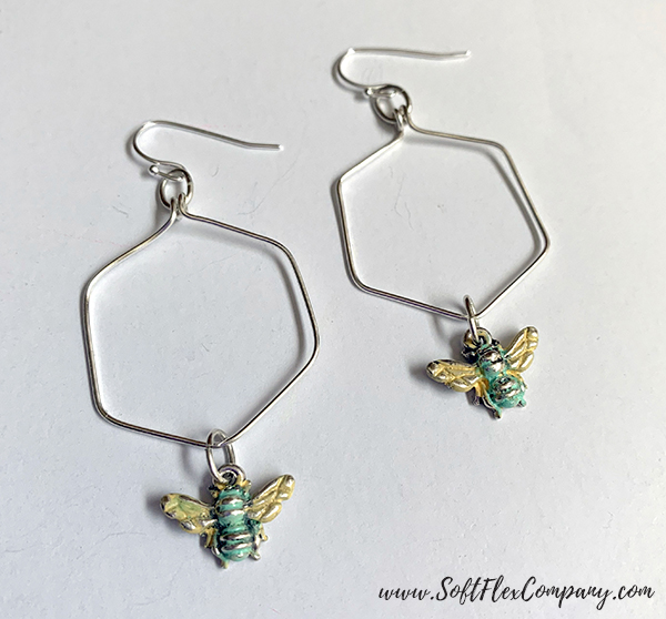 WigJig Honeycomb Earrings by Kristen Fagan