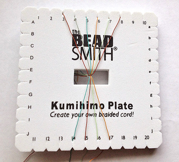 Square Kumihimo Plate and Soft Flex Beading Wire