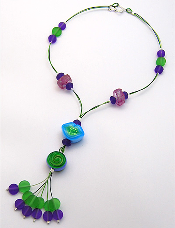 Candy Kiss Necklace by Melissa J. Lee