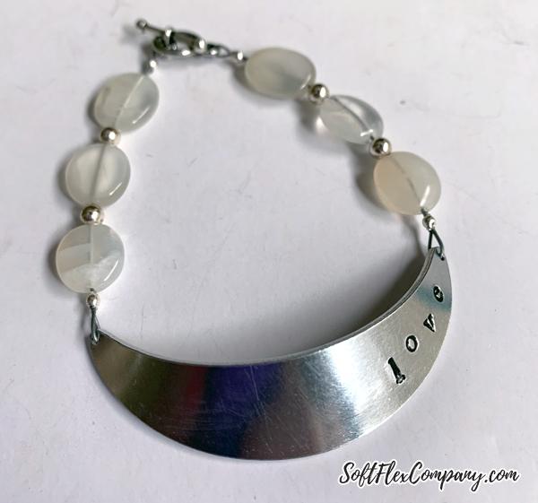 Metal Stamped Love Bracelet by Kristen Fagan