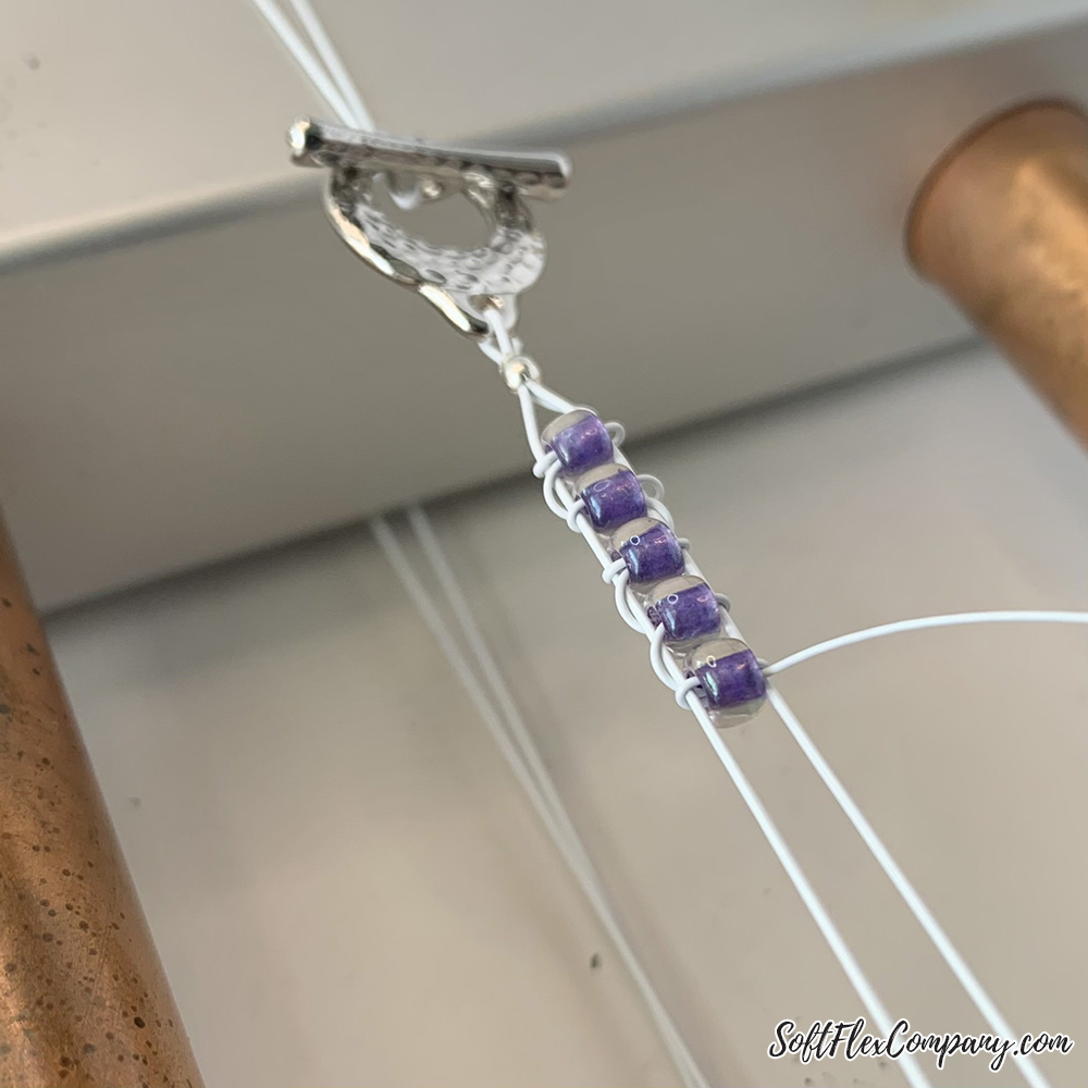 Project using the Mirrix Loom and Soft Flex Beading Wire by Sara Oehler
