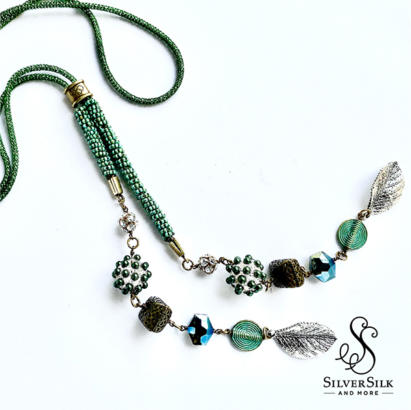 Eden Green Lariat Necklace by Nealay Patel